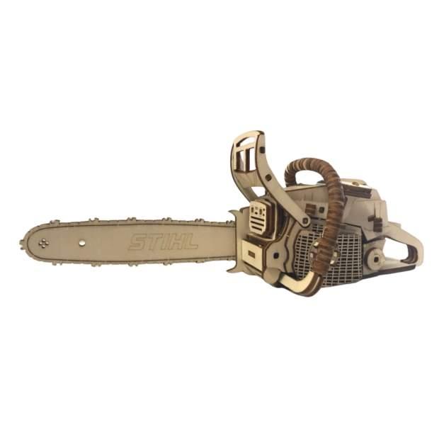 Stihl 3D Puzzle Motorsäge aus Holz, 136 Teile, 6-99 Jahre