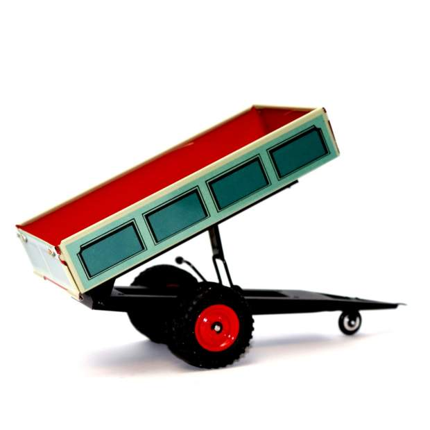 Kovap Blechspielzeug - Traktor Anhänger Kipper, Blau