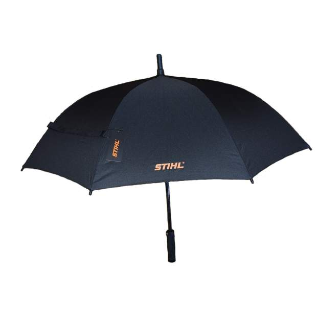 Stihl Regenschirm Schirm Stockschirm Ø 115 cm Gross Robust Schwarz Sonnenschirm