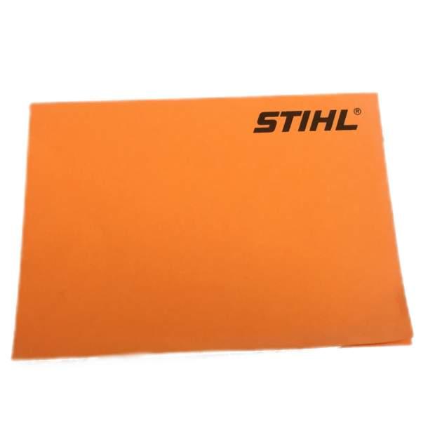Stihl Notizzettel selbstklebend Haftpapier Block, Orange, 100 Blatt, 10,5 x 7,5 cm