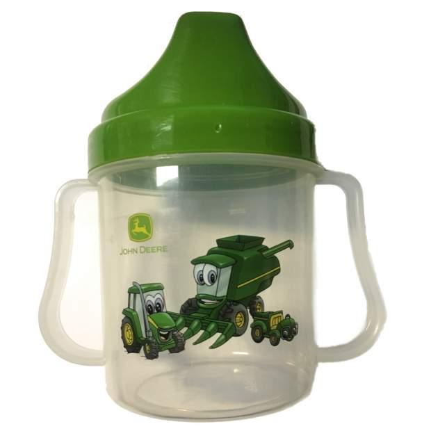 John Deere Trinkbecher Baby. Plastebecher, Kinderbecher, Henkelbecher, Flüssigkeitsbehälter