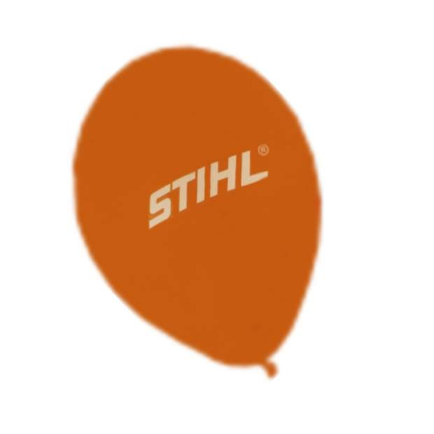 10 x Stihl Luftballon Orange