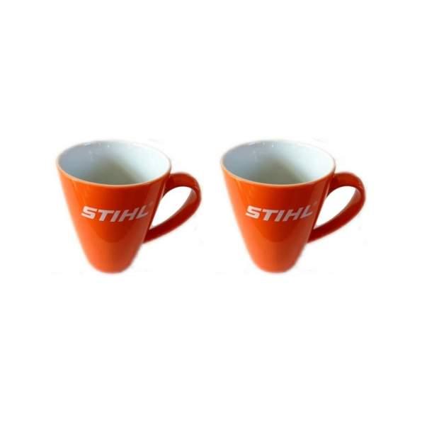 Stihl Tasse Trinkbecher Kaffeetasse Orange 2 Stück