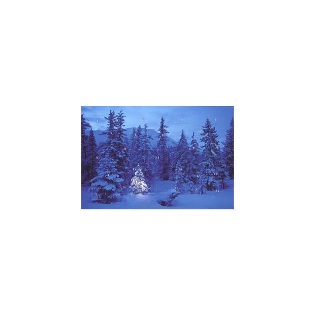 Postkarten Adventskalender Weihnachtsbäume