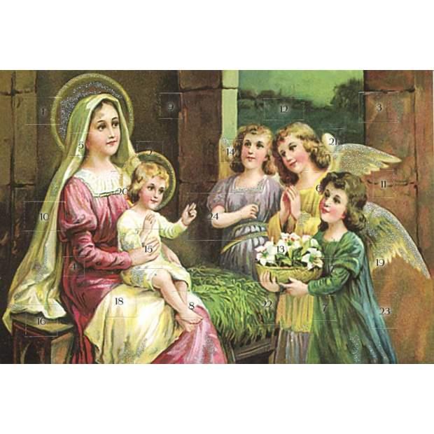 Postkarten Adventskalender Heilige Weihnachtszeit
