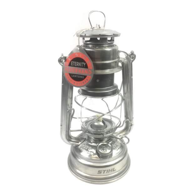 Stihl Petroleumlampe Kaltluftlaterne Sturmlaterne Stahlblech Bruchfest Rostfrei