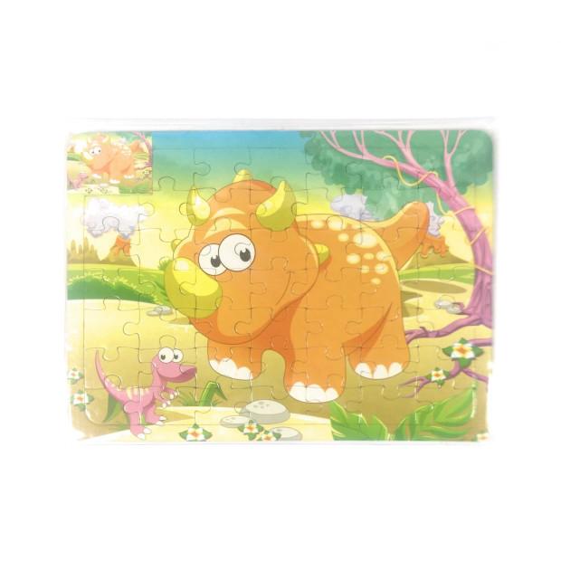 Kinder Puzzle 49 Teile mit Malvorlage für Kinder Motive zum Ausmalen Dinos