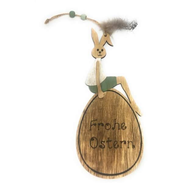 Osterhase Holz Junge Holzdeko Frohe Ostern