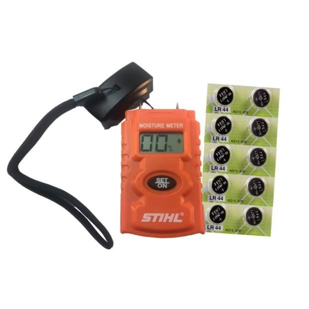 Stihl Feuchtigkeitsmessgerät mit 10er Ersatzbatterien für Moisture Meter