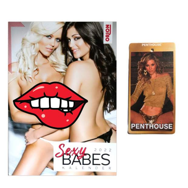 Pin Up Kalender 2022 Sexy Babes & Duftbaum Penthouse After Tabacoo Sexy Girl