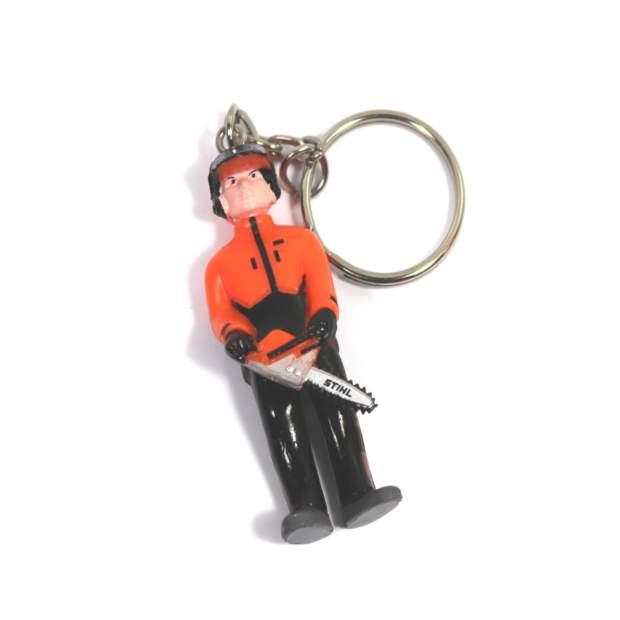 Stihl Schlüsselanhänger Figur mit Säge