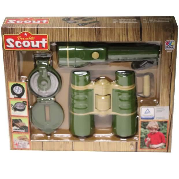 Scout Kinder Entdecker Set 3-teilig - Kompass Fokus Taschenlampe LED Fernglas
