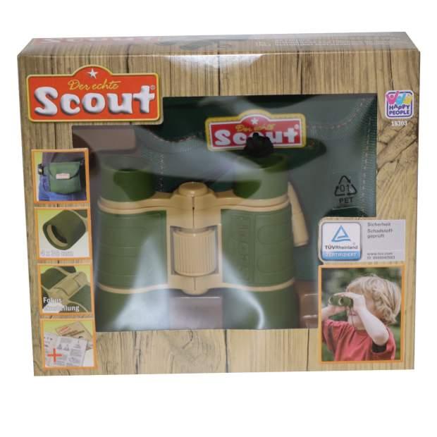 Scout Fernglas mit Gürteltasche Neopren 4- fach Vergrößerung Sicherheitskordel