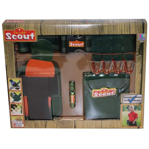 Scout Kinder Abenteuergürtel Neopren mit Signalpfeife und Karabiner
