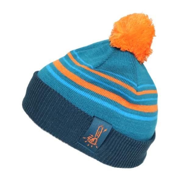 Stihl Mütze Blau Orange mit Bommel one fits all