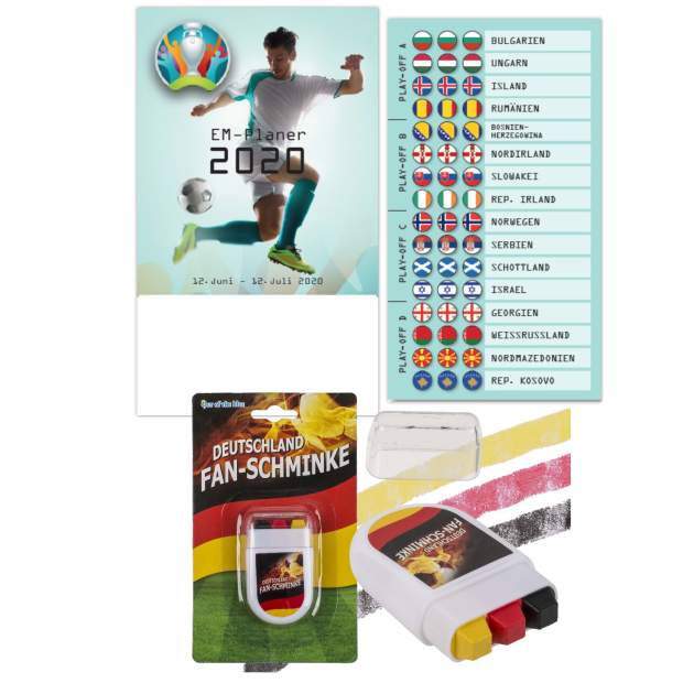 Fußballplaner zur Europameisterschaft 2020 + Fan Schminke