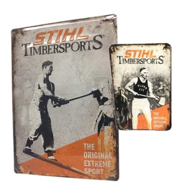Stihl Schild Blechschild History Werbeschild 30 x 40 cm inkl. Kühlschrankmagnet History Vintage Nostalgie
