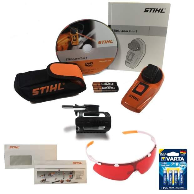 Stihl Laser 2 in 1 Kombipaket Laser mit Halter und Schutzbrille inkl. Batterien und Briefumschlag